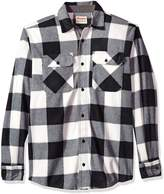 Wrangler Men's Authentics Long Sleeve Plaid Fleece Shirt