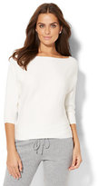 New York & Co. Ribbed-Knit Dolman Sweater