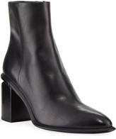 Alexander Wang Anna Block-Heel Leather Booties - Rose-Tone Hardware