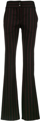 Romeo Gigli Pre-Owned Stripe Flared Tailored Trousers
