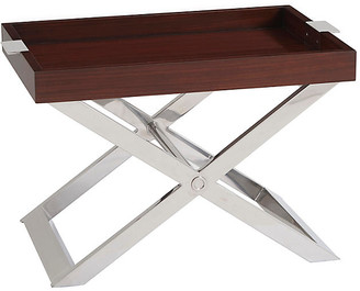 Ralph Lauren Home Pierce Tray Table - Penthouse Rosewood/Silver