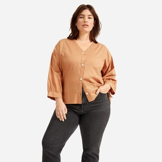 Everlane The Silky Cotton Lantern Top