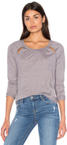 Splendid Tri Blend Jersey Long Sleeve Top
