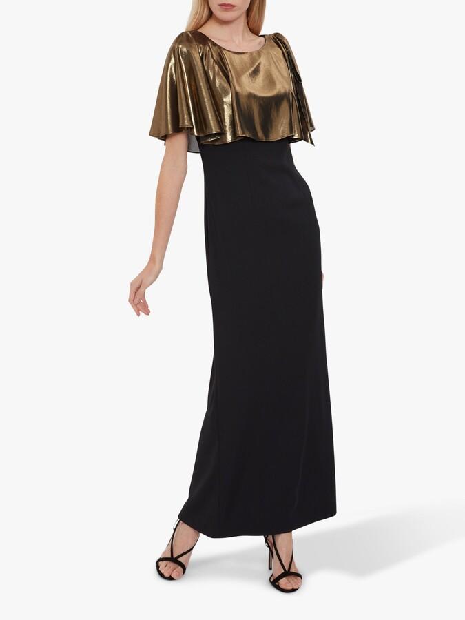 Thumbnail for your product : Gina Bacconi Brietta Metallic Chiffon Maxi Dress