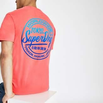 Superdry Mens River Island Pink logo print oversized T-shirt