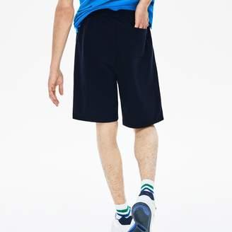 Lacoste Men's Side-Stripe Fleece Shorts