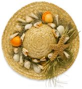 Bed Bath & Beyond Decorative Straw Hat with Scented Shells