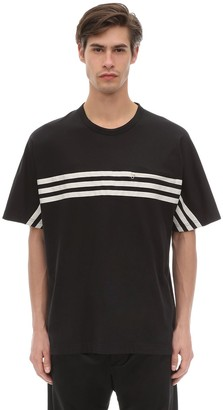 Y-3 Y 3 3 Stripe Packable Cotton Jersey T-Shirt