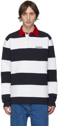Noon Goons Navy and White Fielders Rugby Polo