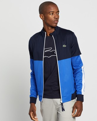 Lacoste Training Logo Panel Zip Front Sweat