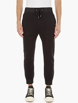 Helmut Lang Black Cotton-Jersey Sweatpants
