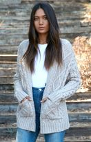 La Hearts Chunky Cable Knit Button Front Cardigan