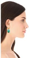 Kenneth Jay Lane Turquoise Bead Drop Earrings