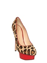 Charlotte Olympia 150mm Ponyskin & Patent Leather Pumps