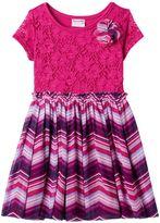Nannette Toddler Girl Lace Front Patterned Dress