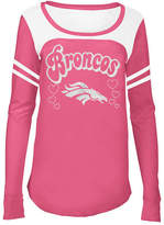 5th & Ocean Denver Broncos Pink Slub Long Sleeve T-Shirt, Girls (4-16)
