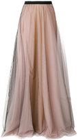 Lédition sheer long skirt