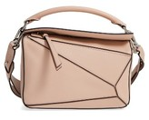 Loewe 'Small Puzzle' Calfskin Leather Bag - Beige