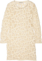IRO Olinie embroidered mesh mini dress