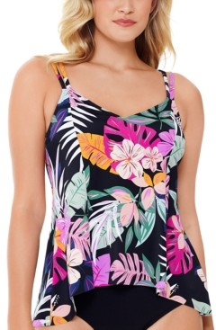 Swim Solutions Princess-Seam Tankini Top, Created for Macy's Women's Swimsuit