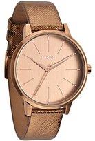 Nixon Women's Quartz Watch Kensington Leather A1081923-00 with Leather Strap