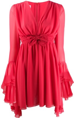 Giamba Bow-Detail Flared Dress