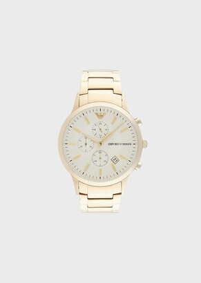 Emporio Armani Chronograph Pale Gold-Tone Stainless Steel Watch