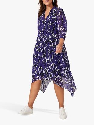 Studio 8 Cecilia Abstract Midi Shirt Dress, Purple/Multi