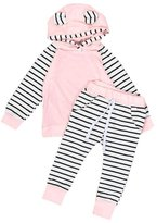 Morecome 2pcs Baby Boy Girls Clothes Hooded T-shirt Pants Outfits Set (6M, )