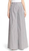 ADAM by Adam Lippes Women's Stripe Cotton Wide Leg Pants