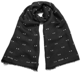 Kenzo Women's Iconics Eyes Scarf Black