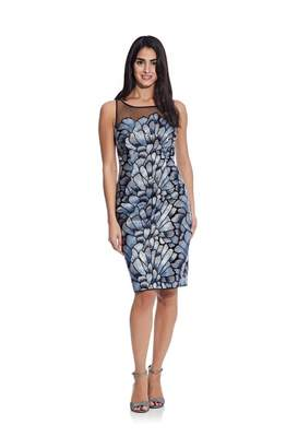 Adrianna Papell Sequin Embroidered Dress