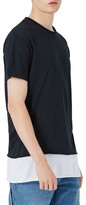 Topman Men's Double Layer Longline T-Shirt