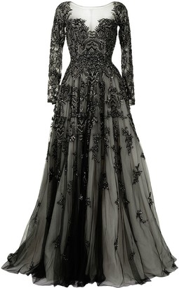 Saiid Kobeisy Sequin Embellished Gown