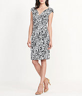 Lauren Ralph Lauren Paisley Surplice Dress