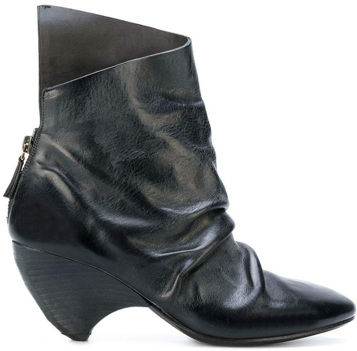 Marsèll ruched asymmetric ankle boots