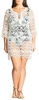 City Chic Macrame Caftan