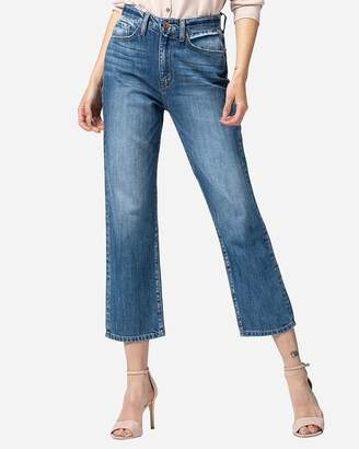 Express Flying Monkey Super High Waisted Relaxed Straight Cropped Jeans