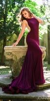 Jovani Matte Jersey Illusion Side Prom Dress