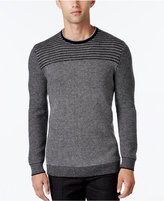 Alfani Collection Men's Stripe Rack-Stitch Sweater, Regular Fit, Only at Macy's