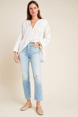 Mother The Dazzler Ultra High-Rise Straight Jeans