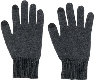 Kenzo Logo Stitched Knitted Gloves