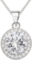 JCPenney SPARKLE ALLURE Sparkle Allure Pure Silver-Plated Round Cubic Zirconia Pendant Necklace