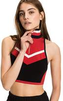 Tommy Hilfiger Cropped Sleeveless Zip Track Top