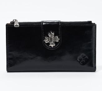 Patricia Nash Leather Marene Floret Twist Lock Wallet