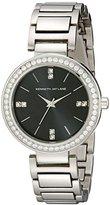 Kenneth Jay Lane Women's KJLANE-2608 Glitz Stainless Steel Watch with Link Bracelet