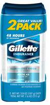 Gillette Deodorant Twin Pack Arctic Ice 3.8 Ounce Clear Gel (112ml) (6 Pack)