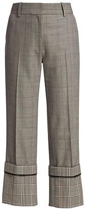 Monse Oversized Cuff Plaid Trousers