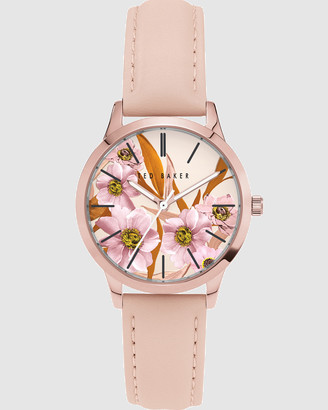 Ted Baker Fitzrovia Collection Rose Gold Pink Watch