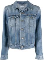 Ganni zip detail denim jacket